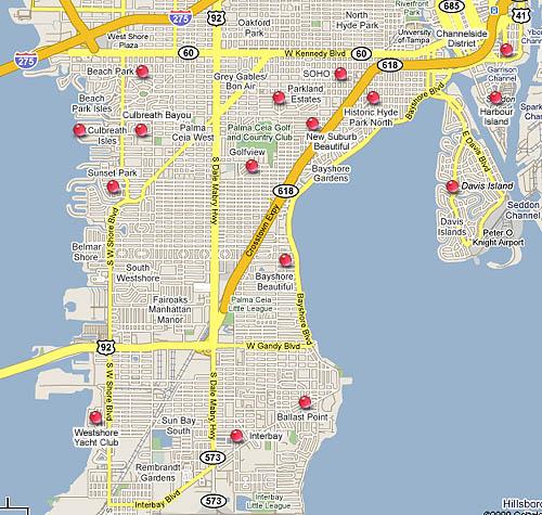South Tampa Real Estate for Bayshore Davis Island Harbour Island