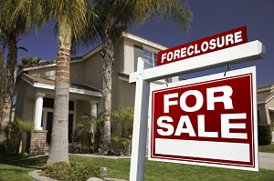 foreclosed house sign